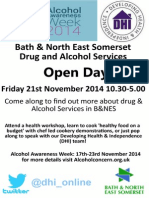 Alcohol Awareness Week Open Day Flyer