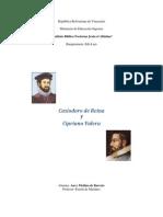 Trabajo Biografia de Cipriano Valera y Casidoro de Reina