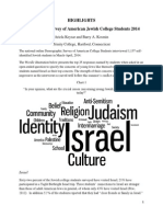 Highlights Demographic Survey of American Jewish College Students 2014