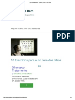 Auto Cura Dos Olhos Archives - Bom Corpo Bom