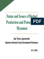 미얀마의 바이오연료 현황 및 가능성