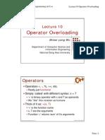 Oop operator Overload