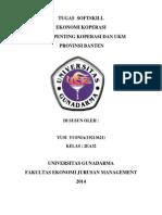 Tulisan UKM dan Koperasi Banten