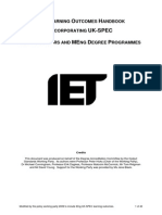 Iet Handbook of Learning Outcomes 21june12