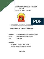 Trabajo Resolucion Nº 119-2013