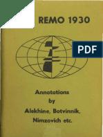 Alechin, Aleksander - San Remo 1930
