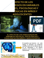 El Efecto de Los Videojuegos en Variables Sociales