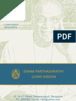 Swamy Parthasarathy - Vedanta Cultural Foundation