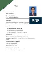 Madhu Resume-Admin New