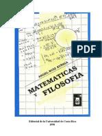 Matematicas y Filosofia