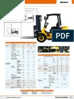 Forklift Diesel 3tx3m Kw05-820