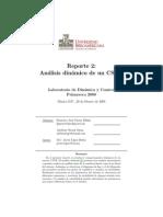 analisis dinamico de un reactor CSTR con codigo en matlab de la resolucion de las ecuaciones diferenciales