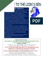 November 16, Athletics Newsletter