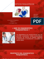 DIAGNOSTICOS PSIQUIATRICOS