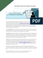 Reglamento de Comercialización Del Servicio Público de Energía Eléctrica
