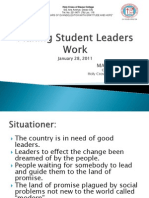 Making Student Leaders Work