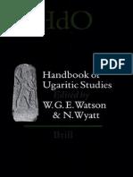 Handbook of Ugaritic Studies