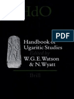 Handbook of Ugaritic Studies