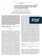 Simulation of Fault Diagnosis of Induction Motor Based on Spectral Analysis of Stator Current Signal Using Fast Fourier Transform