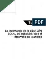 La importancia de la Gestión de Riesgos para el Desarrollo Local