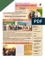 Spendenrundbrief 2014