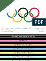 Imaginario para o Cartaz Jogos Olimpicos de Lisboa 2020