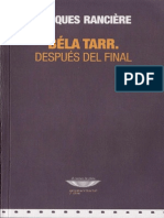 Ranciere, Jacques - Béla Tarr, Después Del Final