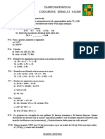 Examen 2º Eso Grupo e Temas 1 y 2