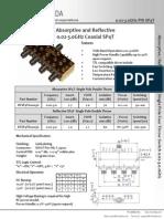 Datasheet for 1 input 4 output splitter