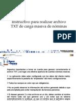 Instructivo Para Generar Archivos de Carga Masiva de EMPLEADOS