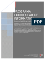 Programa Curricular Informatica 2012