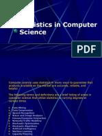 Statistics in Computer Science