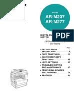 Sharp AR M237_AR M277 Operation Manual