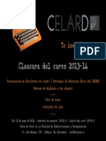 Invitación Clausura CELARD 2013-14