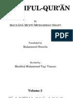 mufti shafi usmani  maarif ul quran  vol 3