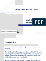Adolescent Oral Health