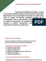Correspondencia Entre Tipo y Diseño de Investigacion