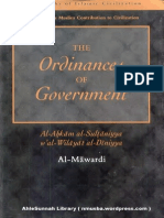 TheOrdinancesOfGovernment Al AhkamAs SultaniyyahByAbuAl HasanAliIbnMuhammadIbnHabibAl Mawardi Text