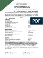 Public Safety Committee Agenda Nov 17 2014