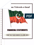 PTI Financial Statement for Financial Year 2013-14