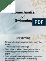 Bio Mechanics of Swimming