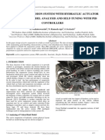 The Active Suspension System With Hydraulic Actuator for Half Car Model Analysis and Self-tuning With Pid Controllers