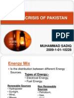 -Energy Crisis of Pakistan Presentation
