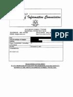 Junta v. Danaher, No. FIC 2007- 2007-416 (Nov. 6, 2007 Conn. Freedom of Info. Comm'n)