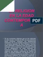 LA RELIGION en La Edad Contemporanea