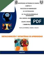 Metacognicion y Estrategias de Aprendizaje