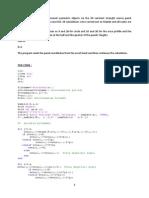 Modelling the flow via 2D constant source panel method