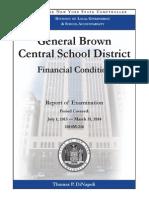 General Brown financial report - Nov. 2014