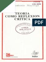René Antonio MayorgaTeoría Como Reflexión Crítica
