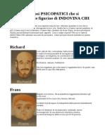 I Dieci Pericolosi PSICOPATICI Che Si Annidano Fra Le Figurine Di INDOVINA CHI